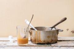 Karamelsaus stock foto's