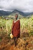 Karamojong-Frau in Moroto in Uganda stockbilder