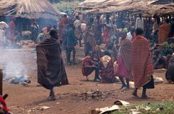 Karamojong villagers, Uganda Stock Photo