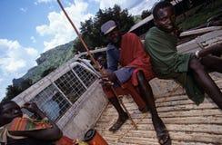 Karamojong villagers, Uganda Stock Image