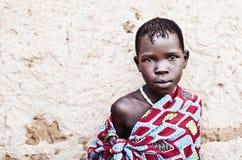 Karamojongkind in Oeganda stock foto's