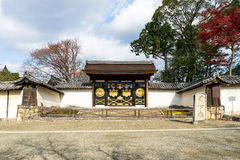 Karamon or Chinese Gate at Sanpo-in Temple which is a Digoji's S. Ubtemple in Kyoto, Japan Stock Image
