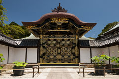 Karamon Chinese Gate at Zenchoji temple in Kamakura Stock Photos