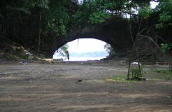 Karang Bolong plaża Obraz Royalty Free