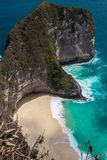 Karang Dawa Viewpoint, Nusa Penida, Bali. Hidden Beach Stock Photos