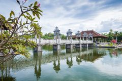 Karangasem water temple palace in Bali Stock Image