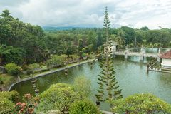 Karangasem water temple palace in Bali Royalty Free Stock Image