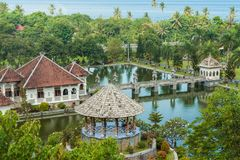 Karangasem water temple palace in Bali Stock Photography