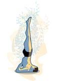 Karani del viparita de la yoga Imagen de archivo