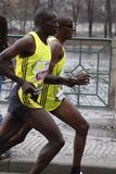 Karanja brothers in Prague half marathon Stock Photos