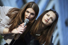 karaoke διασκέδασης Στοκ Εικόνα