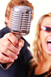 karaoke τραγουδιστές Στοκ Φωτογραφία