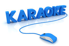 Karaoke. This is a 3D rendered picture Royalty Free Stock Photo