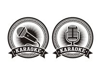 Karaoke badges Stock Photos