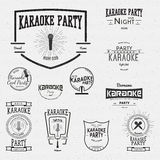 Karaoke badges logos and labels for any use Royalty Free Stock Photo