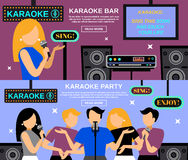 Karaoke Banner Set Stock Photography