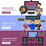 Karaoke Banner Set Stock Images