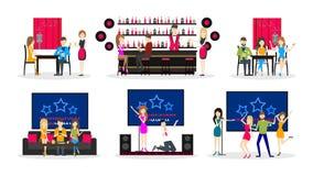 Karaoke bar set. Stock Photo