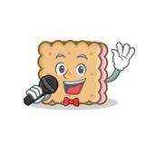 Karaoke biscuit cartoon character style Stock Images