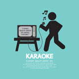 Karaoke Cantante Black Symbol Immagine Stock