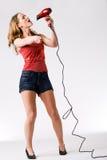 Karaoke with a chinook stock photo