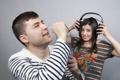 Karaoke de chant Image libre de droits