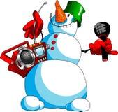 Karaoke del muñeco de nieve Imagen de archivo