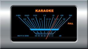 Karaoke device. Pointing full level stock illustration