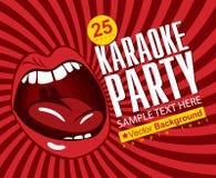 Karaoke di canto Fotografia Stock