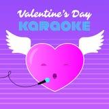 Karaoke för flyghjärtavalentin Royaltyfri Foto