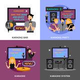 Karaoke Flat Set Stock Images