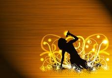 Karaoke girl. Abstract color karaoke girl background with space Stock Image