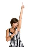 Karaoke Girl. Beautiful teenage karaoke girl singing Royalty Free Stock Photo
