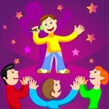 karaoke gwiazda Fotografia Royalty Free