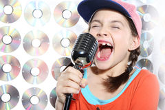 Karaoke hip-hop star Royalty Free Stock Image