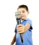 Karaoke kid Royalty Free Stock Image
