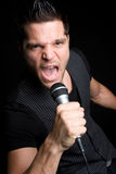 Karaoke Man Royalty Free Stock Photography
