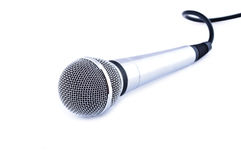 Karaoke microphone. Isolated on white background Stock Image