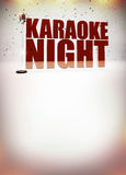 Karaoke music poster. Karaoke music night abstract poster background with space Stock Photography