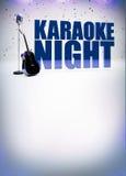 Karaoke muzyki plakat Obrazy Royalty Free
