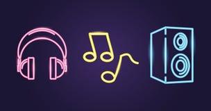 Karaoke neonowy styl ilustracji