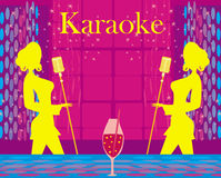 Karaoke night, abstract illustration Royalty Free Stock Photo