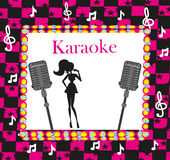 Karaoke night, abstract illustration Royalty Free Stock Photos
