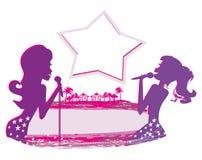 Karaoke night, abstract illustration Stock Images