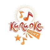 Karaoke night advertising flyer, vector poster composed using mu Stock Image