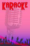 Karaoke Night Poster Royalty Free Stock Images