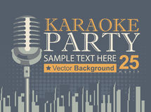 Karaoke parties over modern city Royalty Free Stock Photo