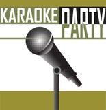 Karaoke party background Stock Photo
