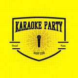 Karaoke party badges logos and labels for any use Royalty Free Stock Photos