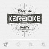 Karaoke party badges logos and labels for any use Stock Image